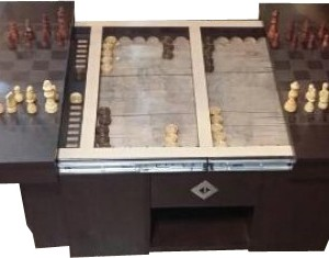 میز شطرنج جلو مبلی عسلی