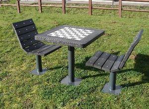 سکو فلزی شطرنج دو طرفه
