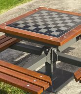 نیمکت شطرنج تمام فلزی طرح چوب قابل مونتاژ۲